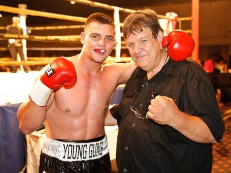 Kevin Lerena (first fight) with Uncle Jeff