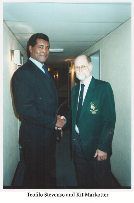 Teofilo Stevenson and Kit Markotter in SA