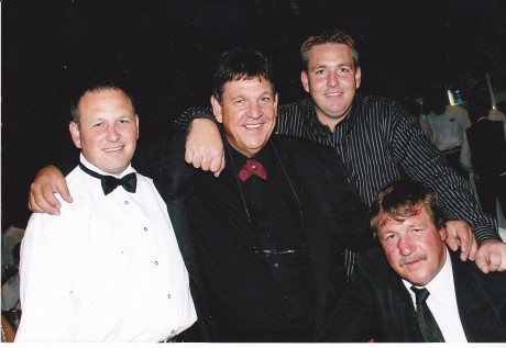 jeff ellis and brother Ron with Jeff jnr and roland