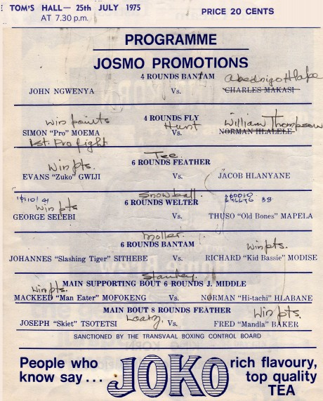 Joseph Tsotetsi 1975