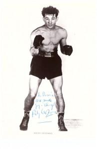 AFR Rocky Graziano inscribed signature