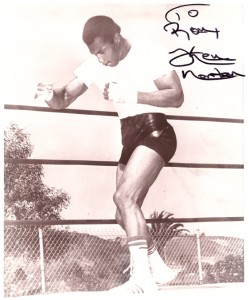 Ken Nortan signed to Ron fought Muhammad Ali
