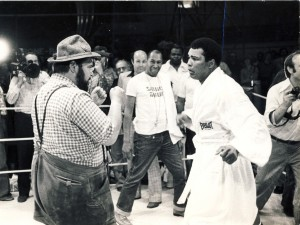 Muhammad ali with HILL BILLY