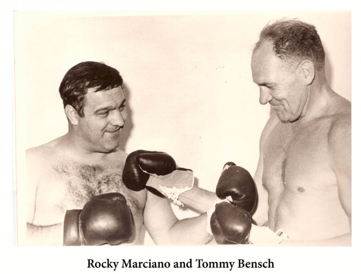 Rocky Marciano squares up to Tommy Bensch in SA - African Ring